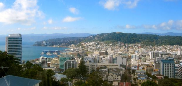 View from the library of Victoria University of Wellington