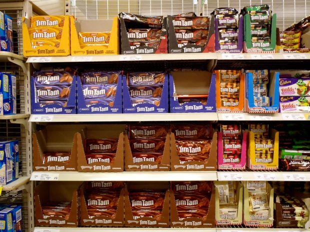 Tim tam supermarket aisle