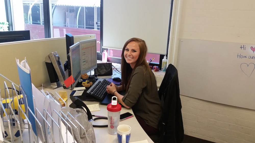 Victoria Freeman, Event Management major at Iowa State University, who interned in Australia this summer.