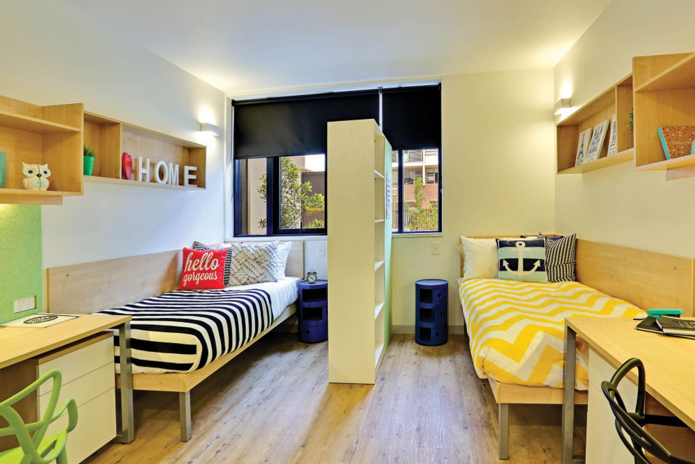 TEAN Sydney off campus housing bedroom example