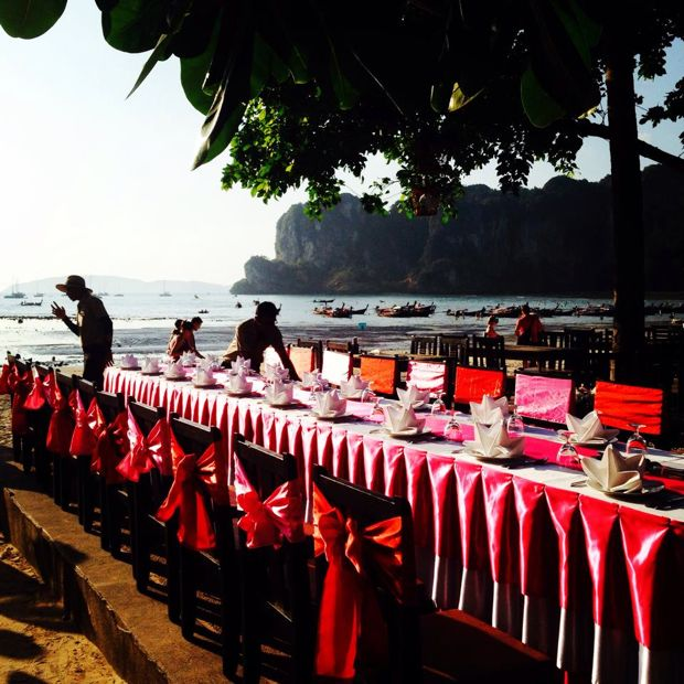 TEAN Valentines Dinner on West Railay Beach