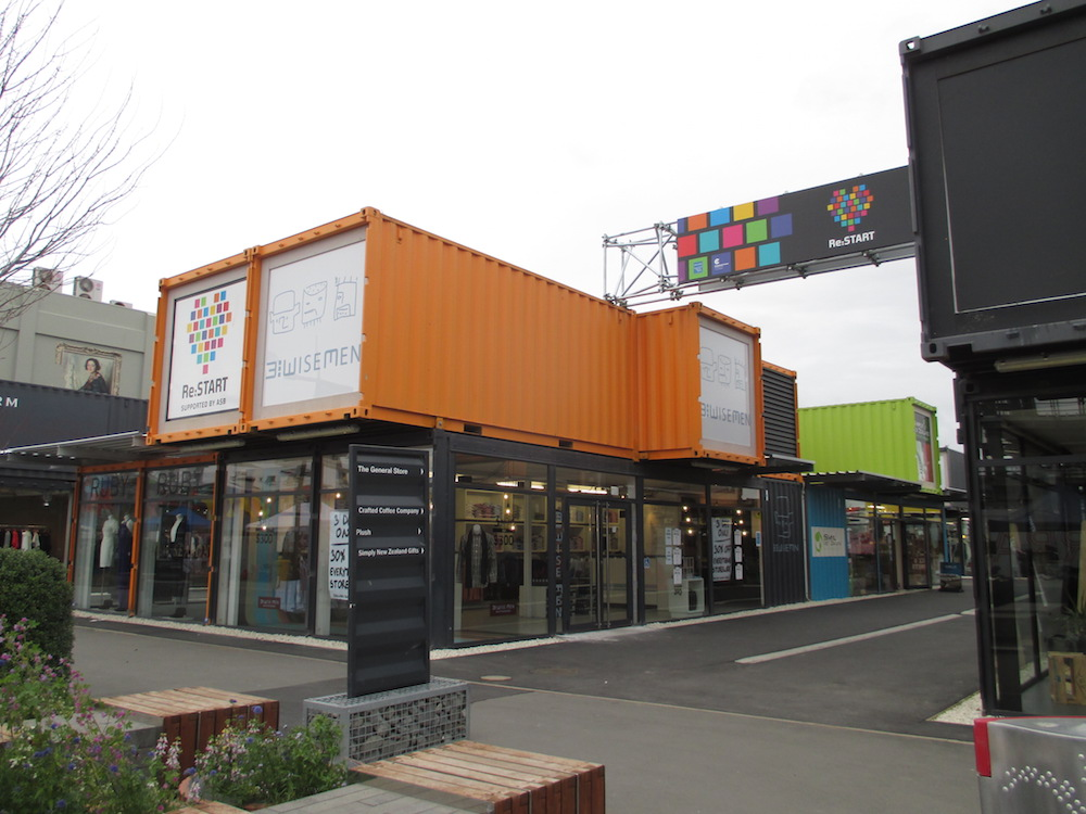 Re:START mall built from shipping containers.