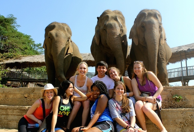 Another favorite group shot taken at the Elephant Nature Park