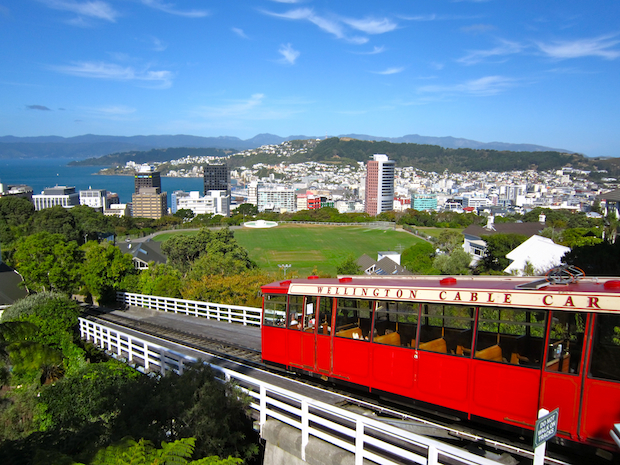 Photo of Wellington by Janelle Holte, Augsburg College, who studied abroad in New Zealand