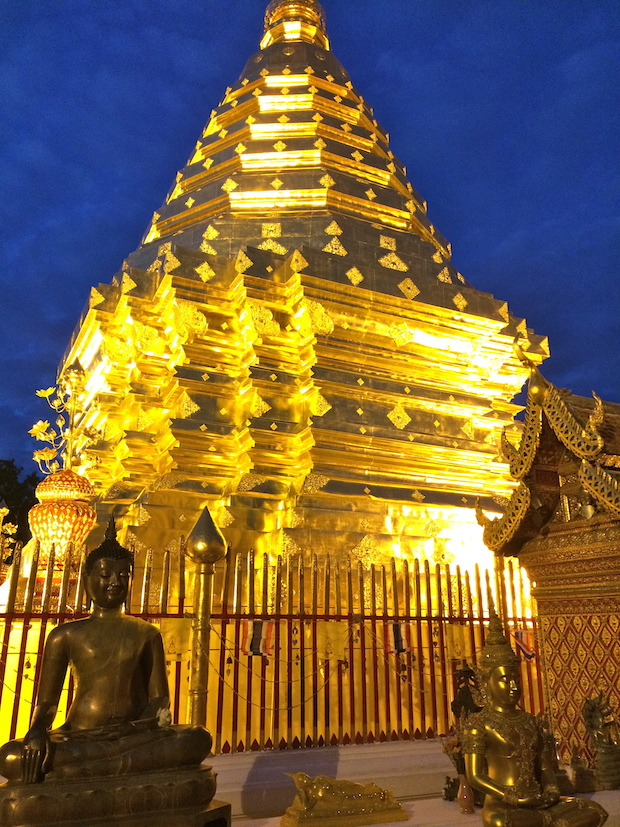 The golden stupa at Wat Doi Suthep