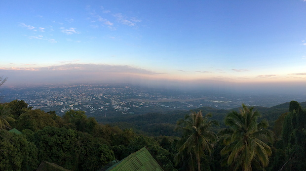 Chiang Mai from the top of Doi Suthep