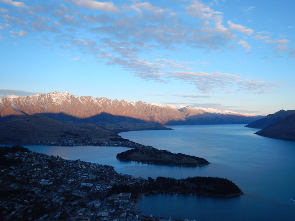 Photo of Queenstown by Shannon Johnston who interned aboard in New Zealand