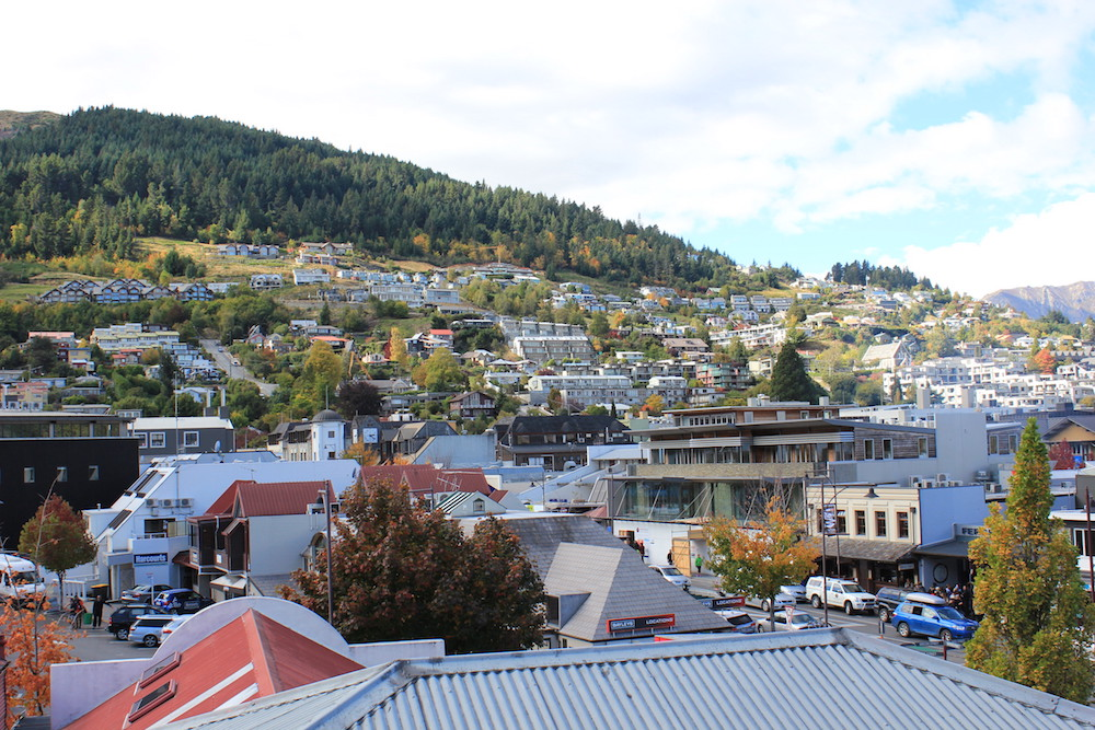 View of Queenstown from the hostel