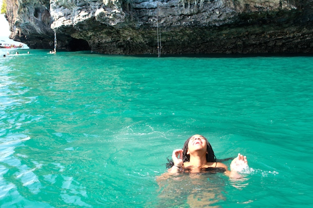 Is that a mermaid?! No it's just me pretending to be my favorite Disney princess in Krabi, Thailand.