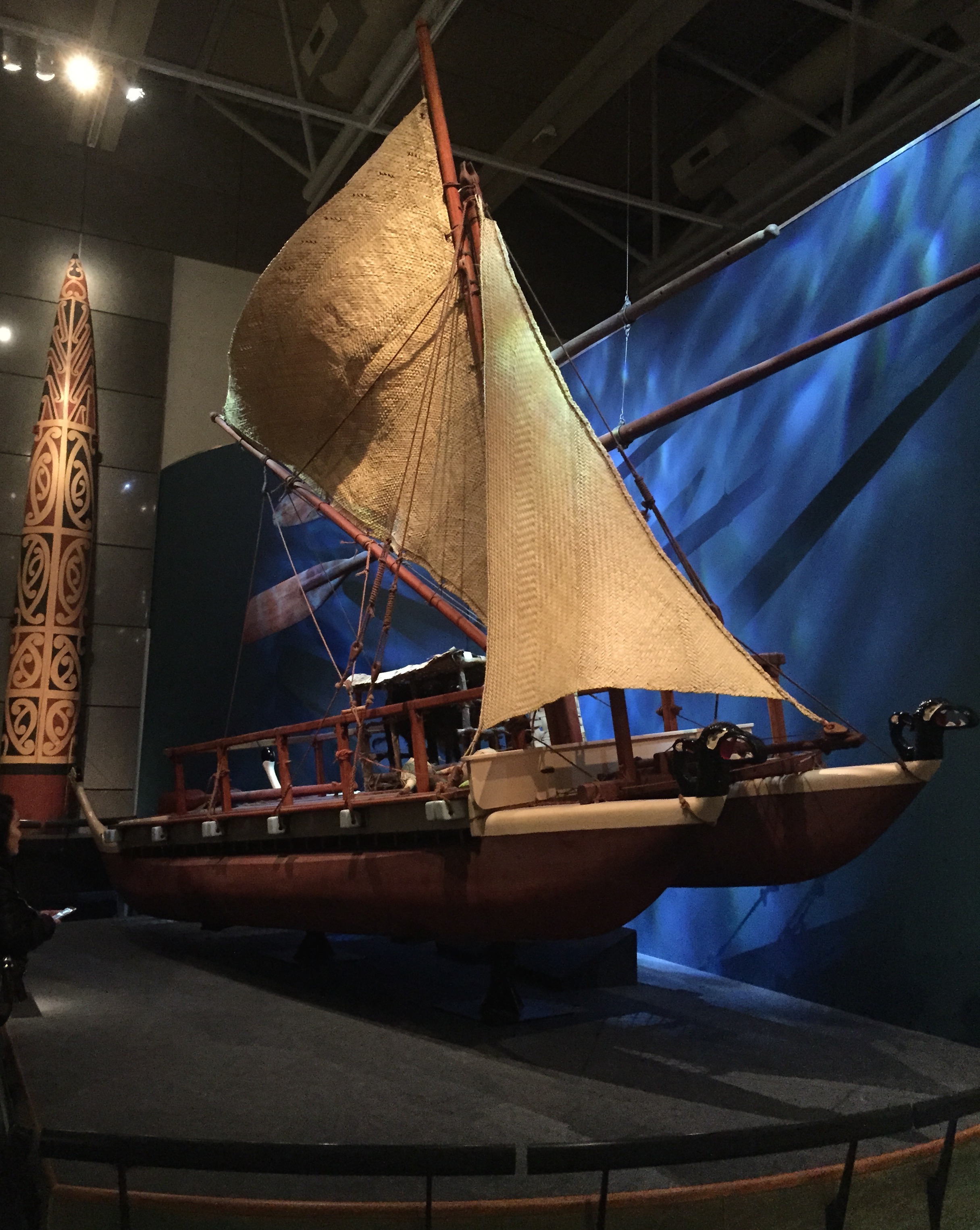 A boat from my favorite Māori cultural history exhibit.