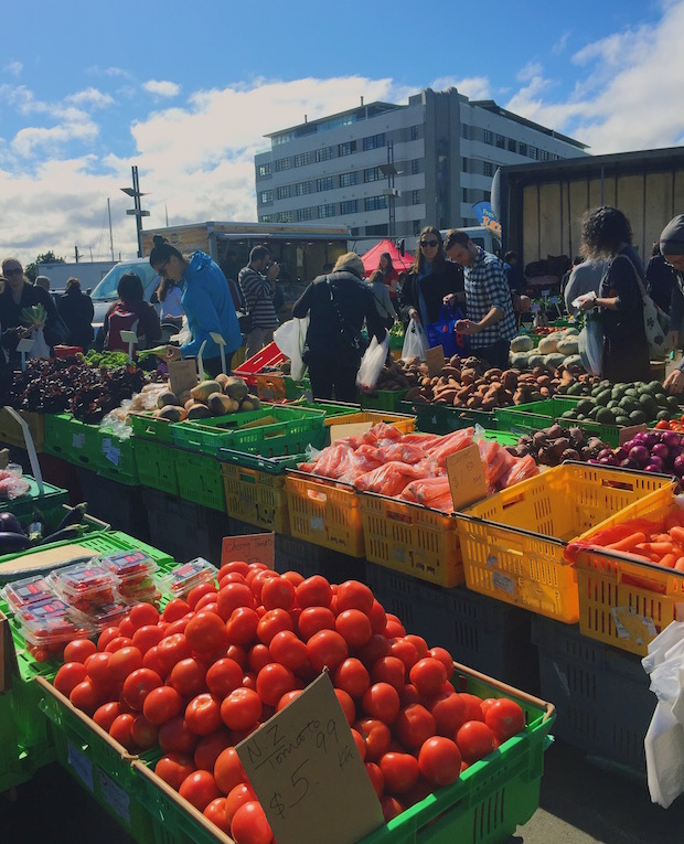 The Sunday morning farmer's market, the place to go for the best deals on your weekly produce.