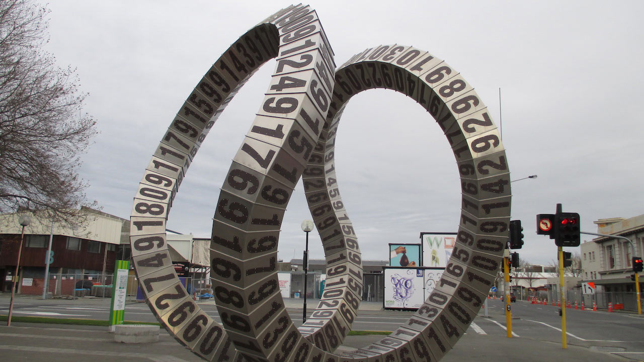 An artistic sculpture in Christchurch, New Zealand