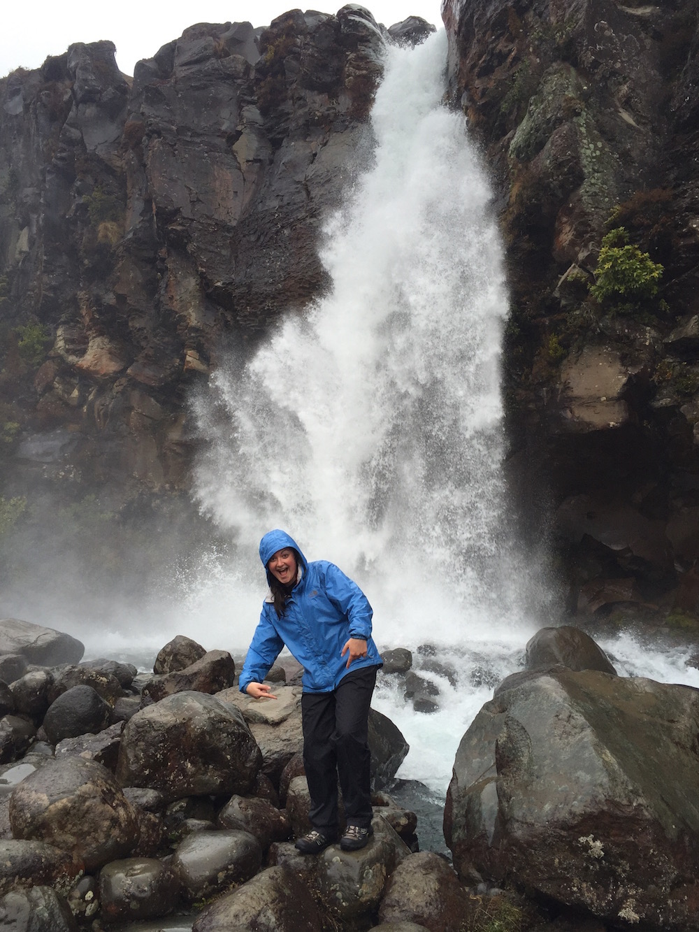 On this rainy day hike on the Taranaki Falls Track in Tongariro National Park, I was thankful I had packed my rain gear.