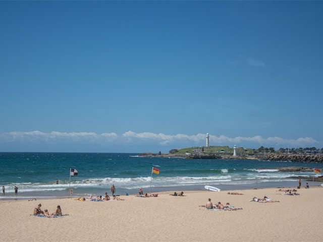 Wollongong beach