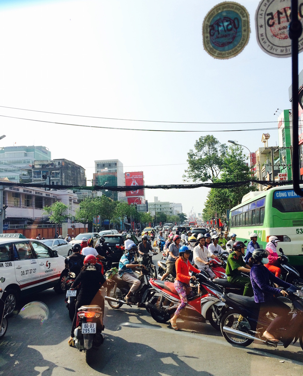 Traffic in Ho Chi Minh City, Vietnam