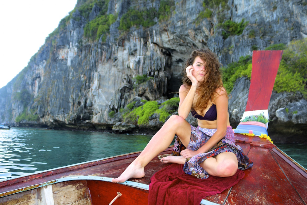 TEAN Alum Grace Farley on a trip in Thailand - she studied abroad in Singapore