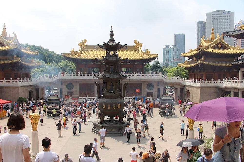 Jing'an Temple on West Nanjing Road | TEAN Alum Oneisha Lee, University of California San Diego