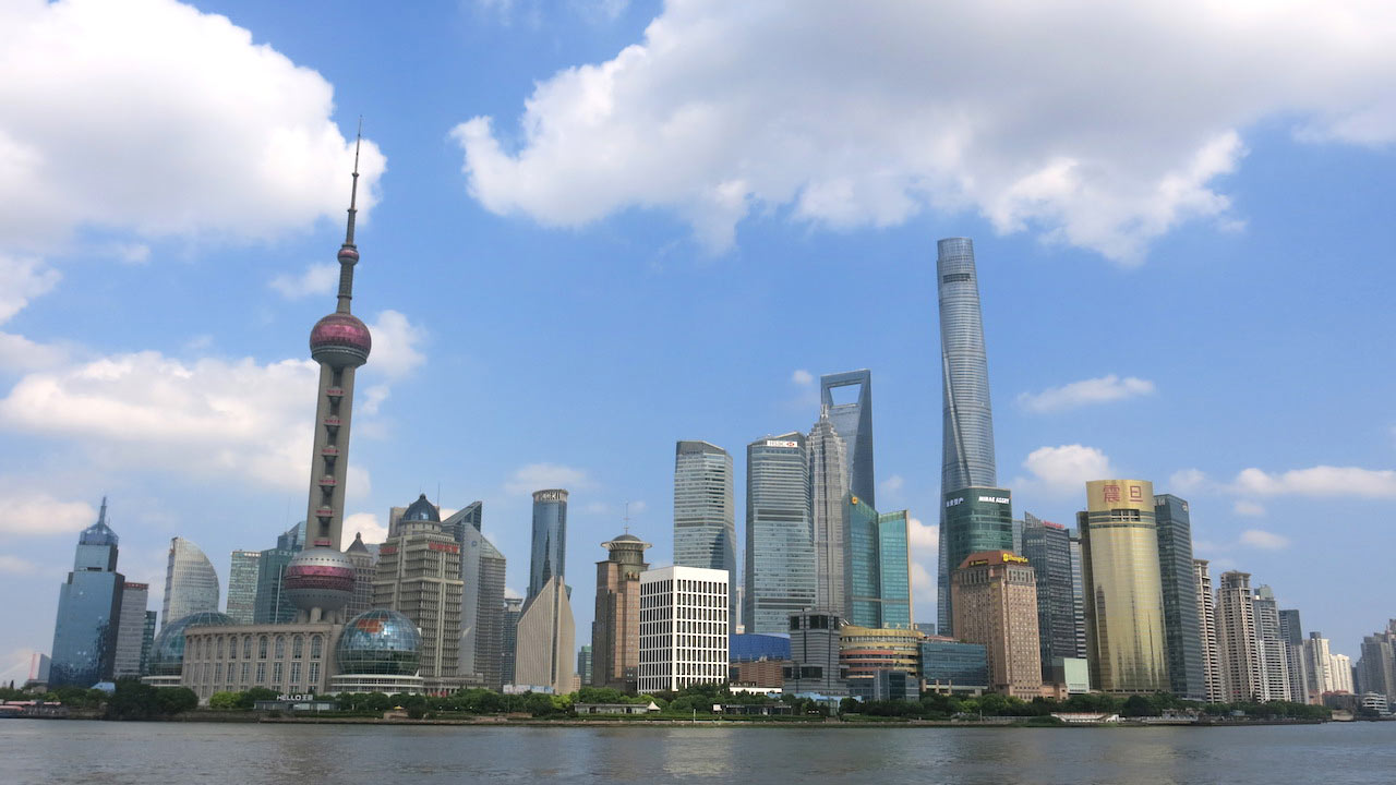 Shanghai cityscape and harbour