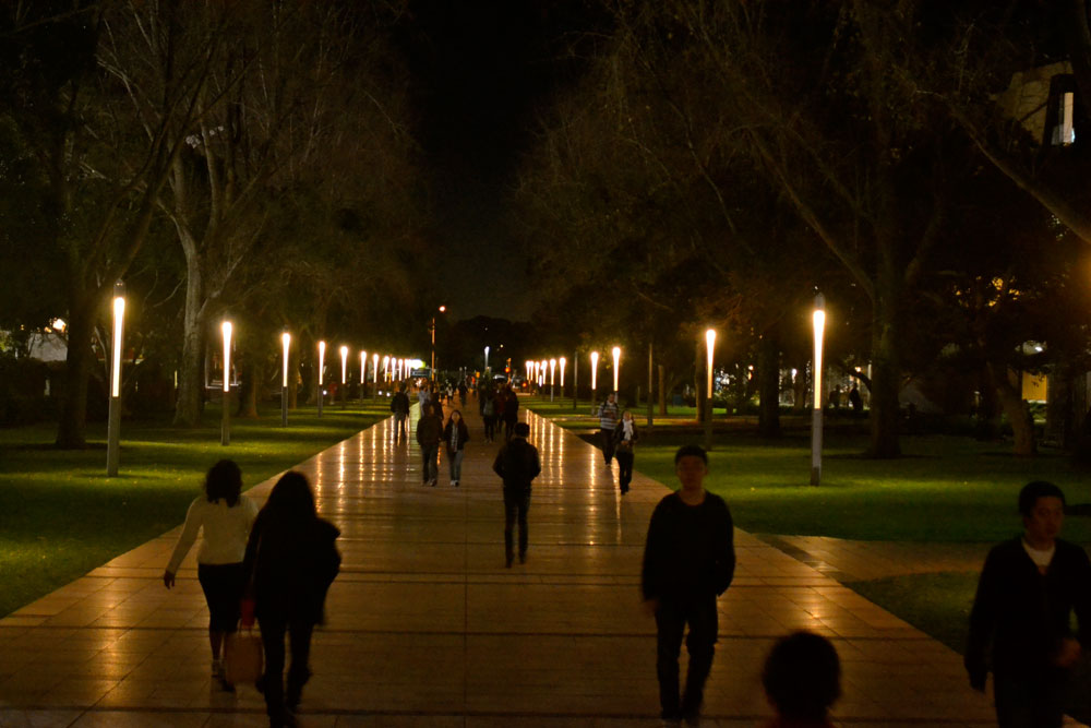 UNSW campus at night