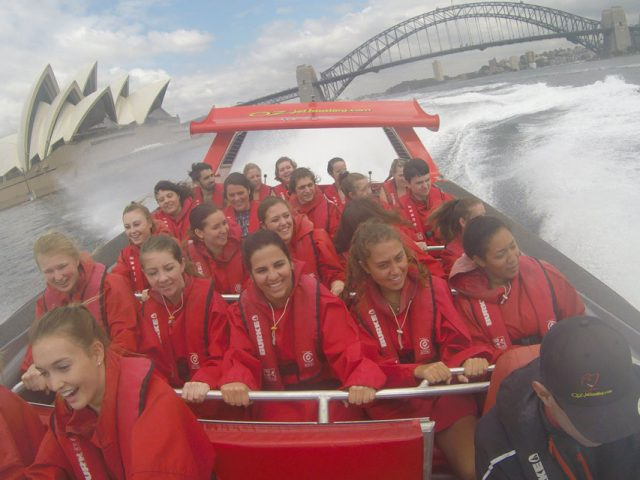 Jet boating in Sydney - TEAN Fall study abroad
