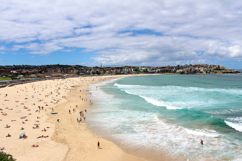 Bondi Beach in Sydney, where interns spend much spare time soaking up Aussie culture