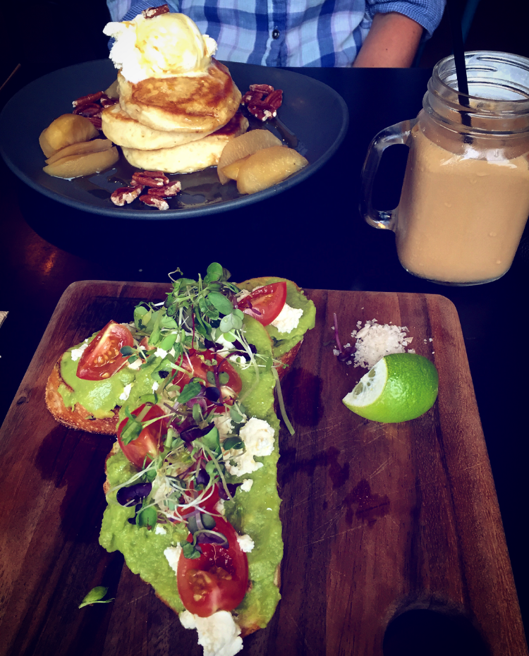 Blue Door in Newcastle, Australia is great for healthy and delicious food