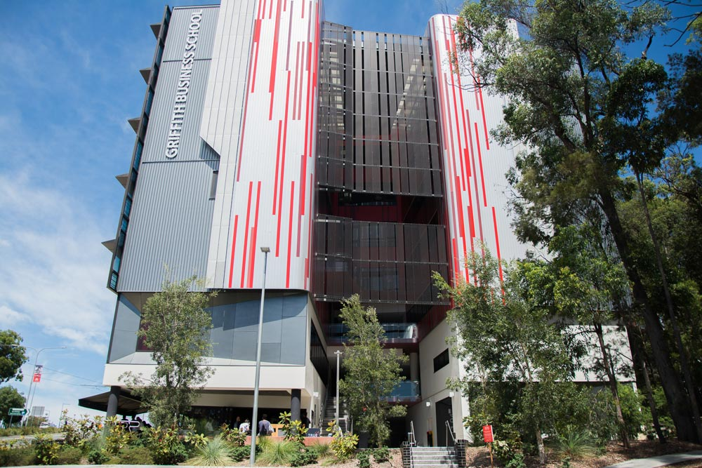 Griith University Business building on the Gold Coast campus.