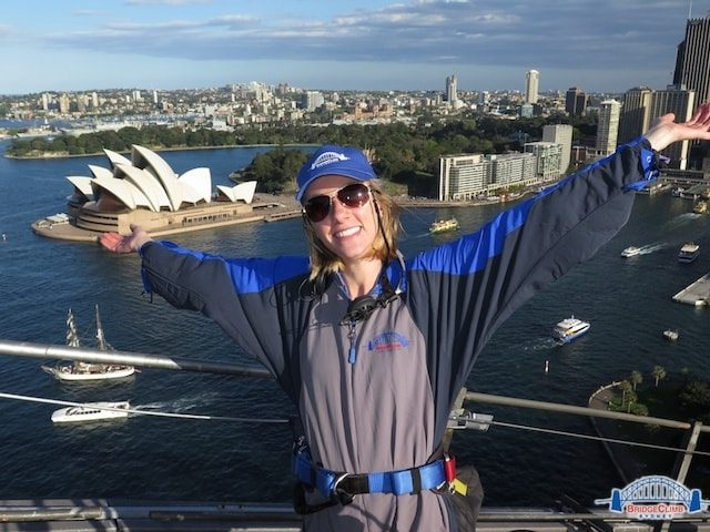 From the top of the Sydney Harbour Bridge Climb