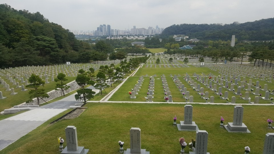View of Seoul National Cemetery