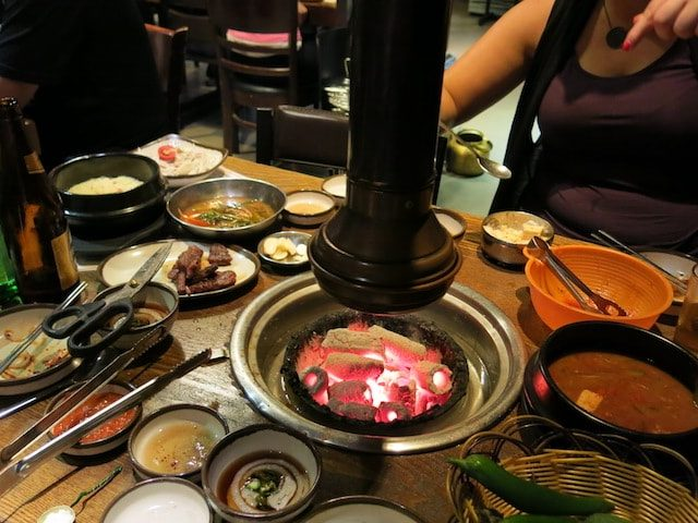 Korea BBQ tabletop in Seoul