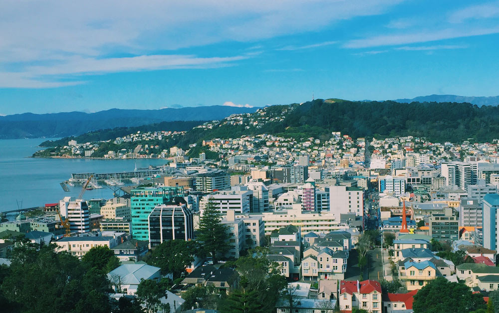 View from Victoria University of Wellington library