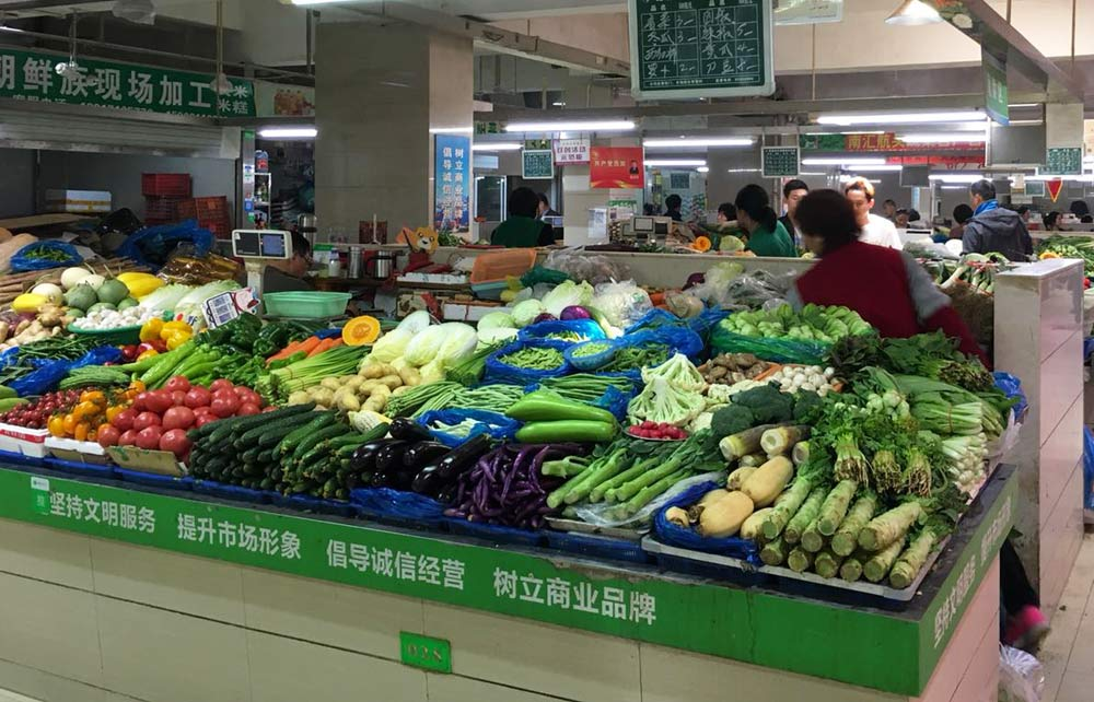 Year round farmers market in China