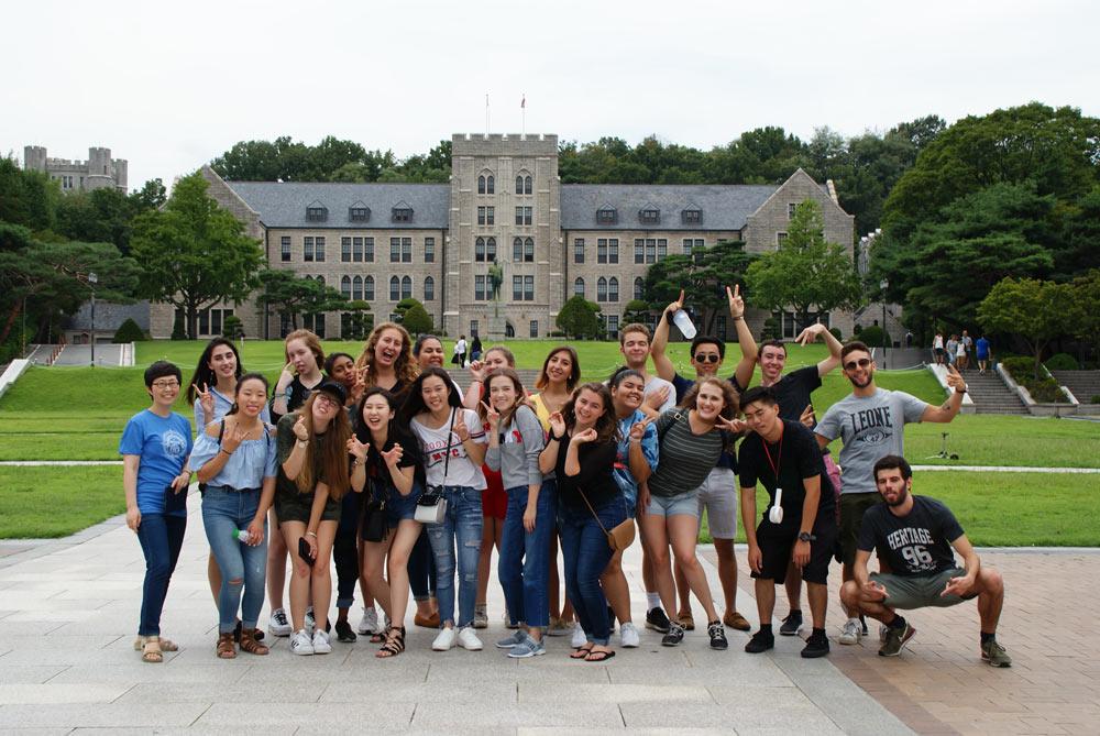 TEAN students on the Korea University campus