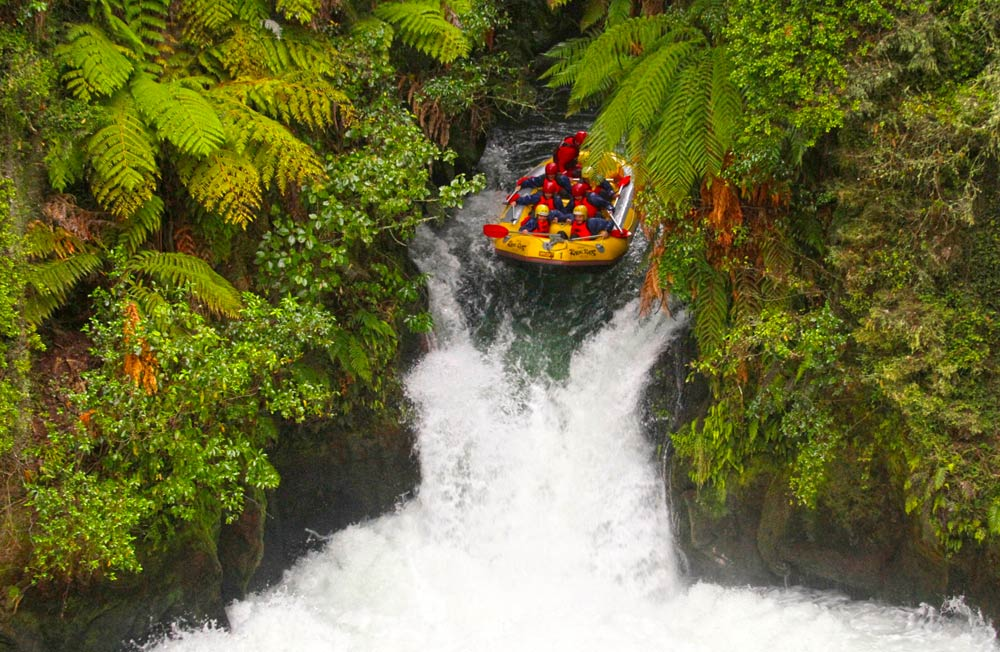 Study abroad in New Zealand to experience the adventure activities like white water rafting