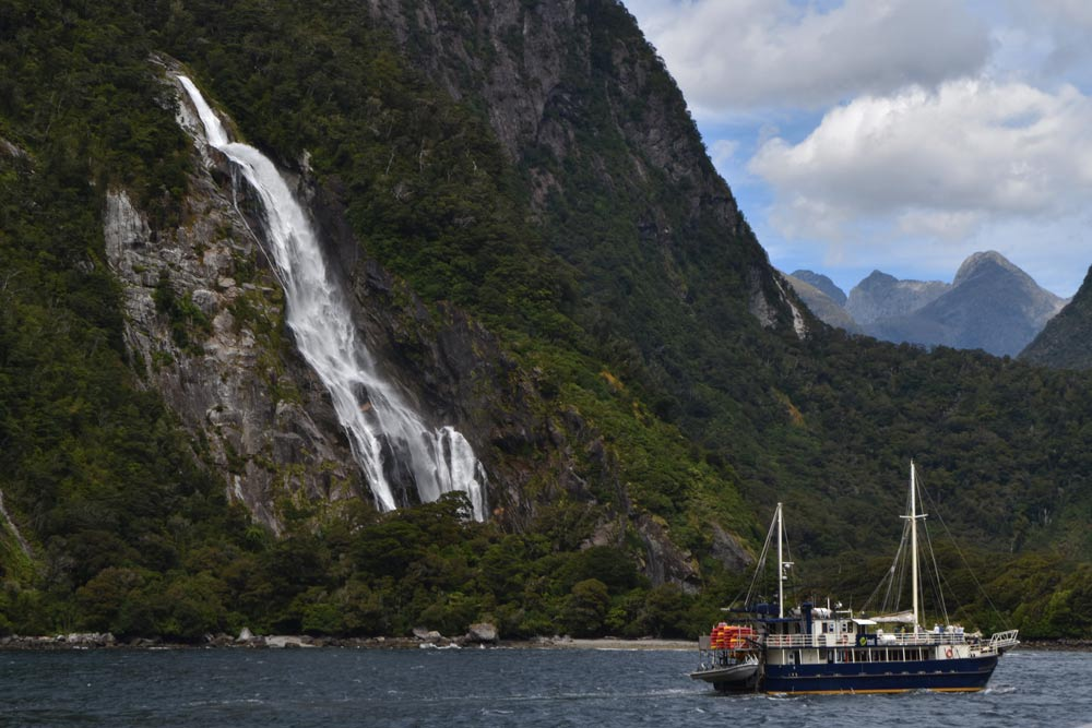 Milford Sound in New Zealand during there TEAN Orientation for semester study abroad students