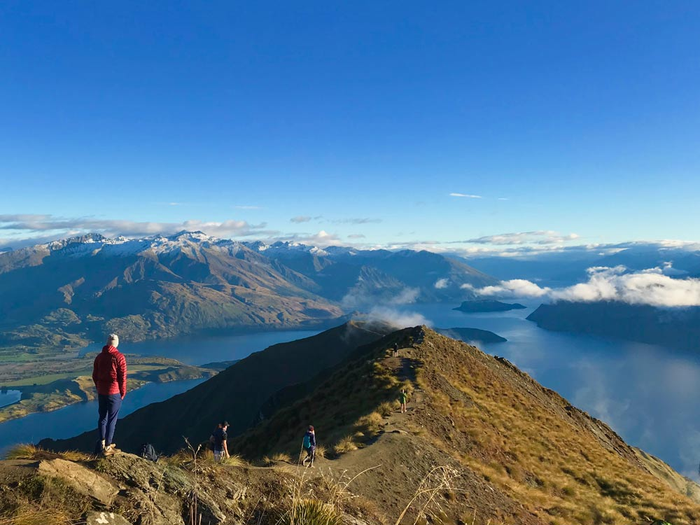 Hiking Roys Peak in New Zealand is a popular activity by study abroad students