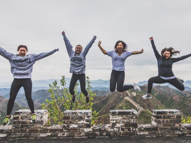 Great Wall jumping photo