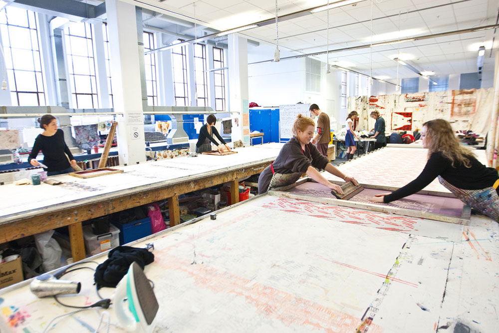 Textile design studio at Massey University