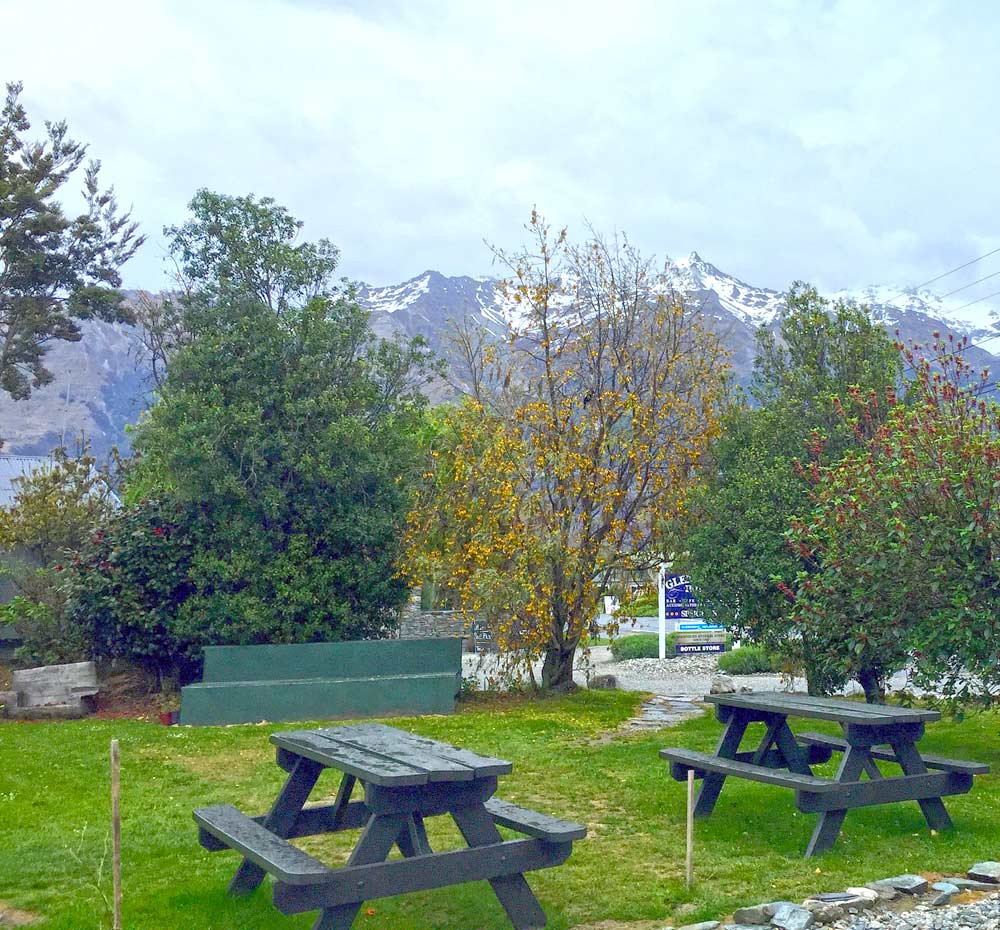 View from hostel in Glenorchy, New Zealand