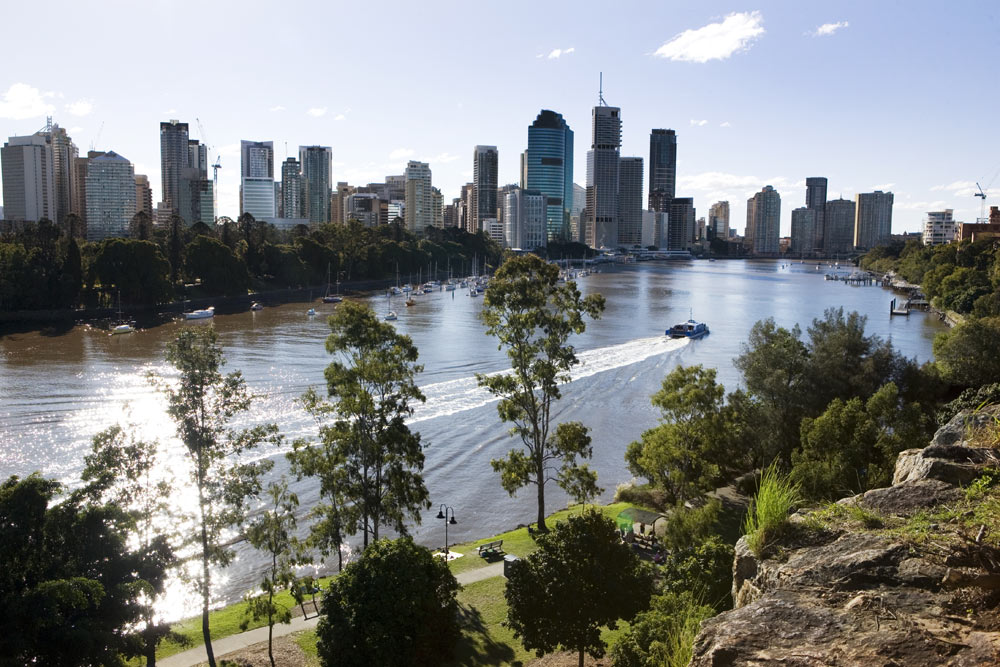 View of Brisbane city from Kangaroo Point