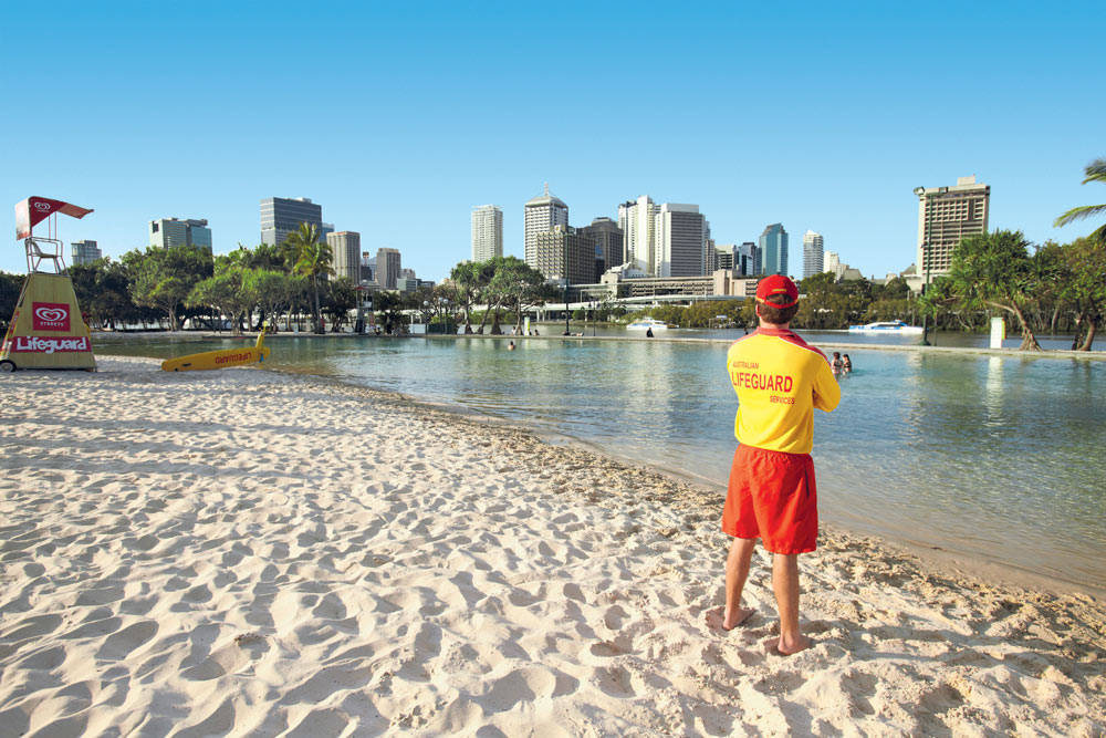 Streets Beach at South Bank in Brisbane