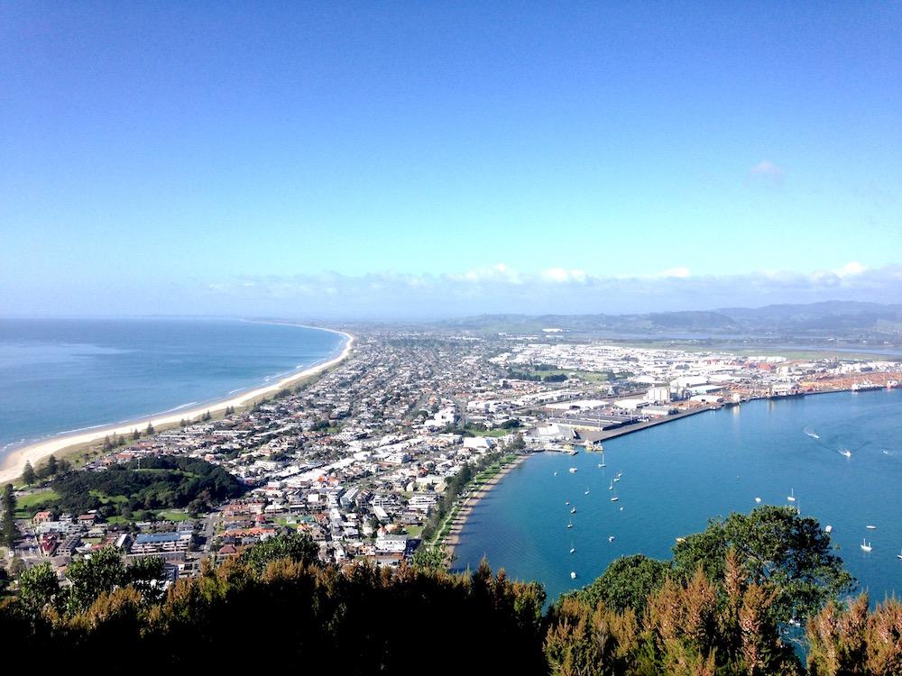 View of Tauranga from Mt. Maunganui