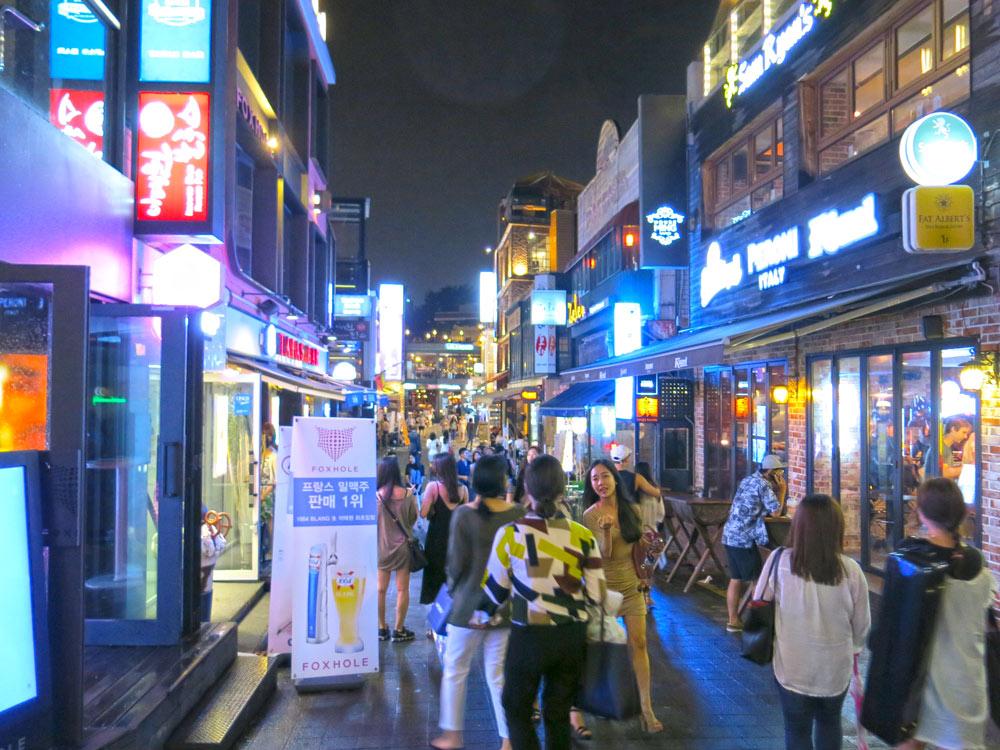 Itaewon nightlife in Seoul