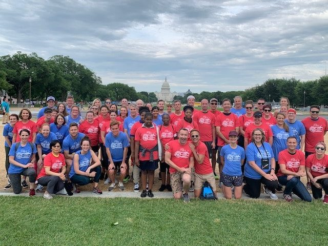 Group photo at TEAN Fun Run in Washington D.C.