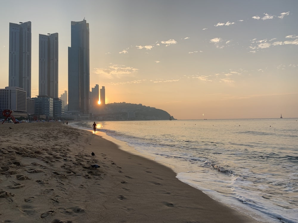 Haeundae Beach at sunset